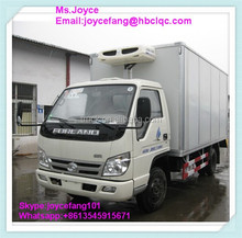 New Brand Foton Refrigerated Box Truck And Truck Cargo Body For Sale