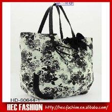 ladies' flower print handbag,2012 new stylish handbags,HD-60644