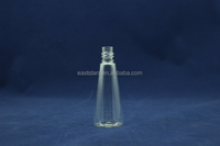 plastic and crystal 30ml pyramid pet bottles for perfume use