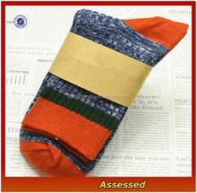 2015 Custom 100% Cotton Multicolor Thick Winter Striped Socks For Men/Men Dress Socks/Socks Machine Price---AMY150293