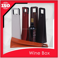 Good design pu leather wine carrier