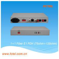 E1 optic modem 75ohm plus 120ohm interface G.703 modems