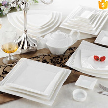modern shape white color ceramic bone china dinner sets