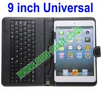Wired Universal 9 inch Tablet PC Leather Keyboard Case