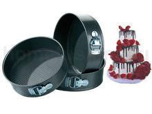 Grupos de 3 antiadherente desmontable pastel TINS PAN para hornear hornear bandeja redonda BASE floja