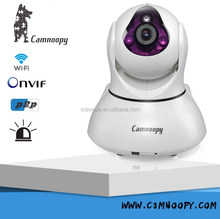 Two-way audio 8 zone 64 channel wireless Camnoopy ip camera p2p plug and play PIR detetion nightvision