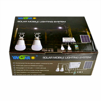 4.5 W solar panel and White portable solar power systems LED light / phone charger function YH1002