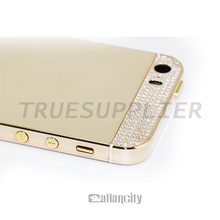 Rose gold elite crystal top and bottom for iPhone 5s rose gold cover for iPhone 5s 24kt rose gold housings