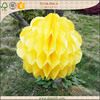 Easter decortaion tissue paper yellow puff honeycomb ball