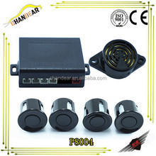 4 Parking Sensors Led Display Auto Car Reverse Backup Radar Kit Black New