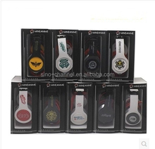 Custom Imprinted private label Foldable 3.5mm wired anime headphone for pc computer cell mobile phone