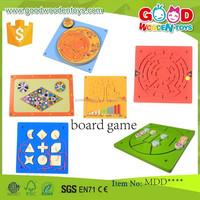 EN71 hot sale wooden educational board game in high quality OEM/ODM intelligent board game for children