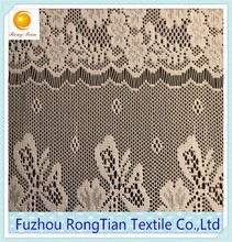 Beautiful cord embroidery floral lace fabric for home designs