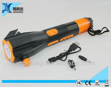 multi-functional escape impact hammer emergency safety tool hand tool with led flash light radio hand tool