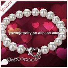 Elegant white button freshwater pearl bracelet handmade bracelet ideas