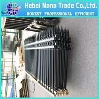 Black powder coated spear top cheap galvanised tubular metal fence