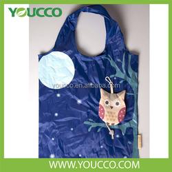 2015~2016 Owl & Fox Foldable Animal Shopping Tote Bag Nylon Pattern