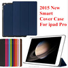 For ipad pro Tri-folding Smart leather case ultra thin with back cover case