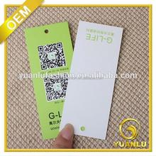 luxury simple brand name logo printing tag cardboard name tag manufacturer