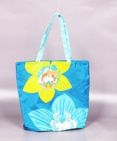 wholesale promotional reusable foldable polyester shopping tote bag