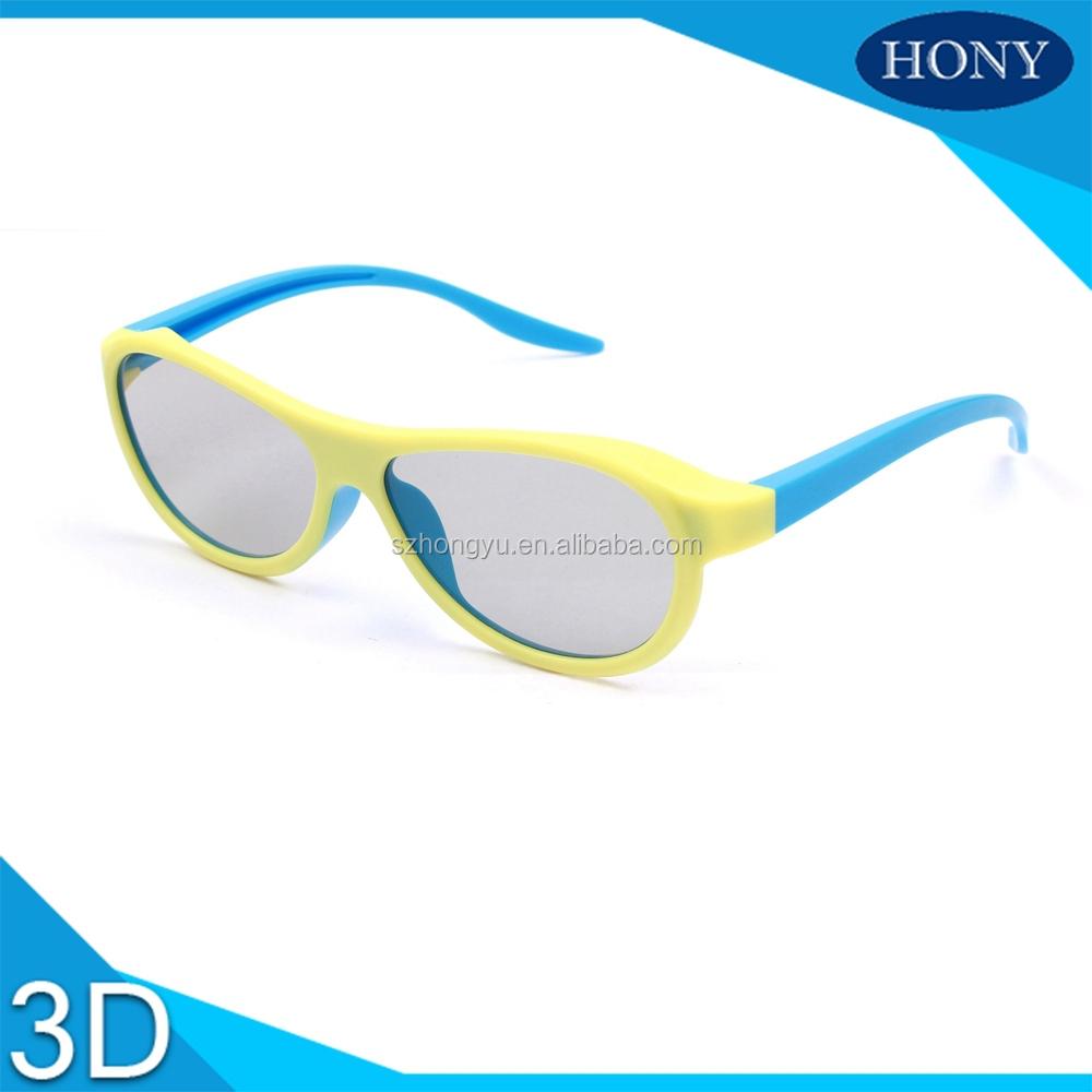 การใช้งานโรงหนังrealdแว่นตา3มิติวงกลมขั้วองศา