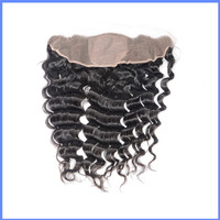 Wholesale Human Hair10-22inch Brazilian Hair Loose Wave Silk Base Frontals Closures