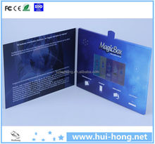 """Blue Style 4.3"""" LCD Audio Video Brochure Promotional Card"""