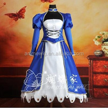High Quality Fate zero Fate stay night saber Anime cosplay Costume One Piece uniforms Halloween Costume