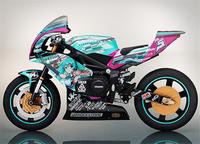 Anime Figma 233 Hatsune Miku Motorcycle PVC Action Figure Collectible Toy 19CM