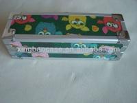 Pencil case gift,buy cute pencil case with fabric panel,pvc pencil case