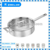 Zhifa 24cm & 26cm stainless steel straight shape frying pan