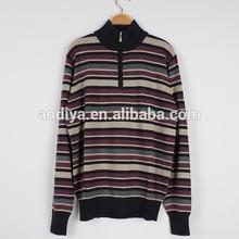 invierno de los hombres chaqueta de punto medio suéters con cierre de cremallera suéteres de lana para hombres de manga larga