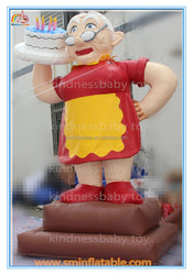 Factory price advertising party inflatable old women model for sale