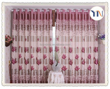 home textile 100% polyester hotel quality blackout curtain fabric,floral printed living room curtain