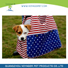 Lovoyager America Flat Dog Head Out Pet Carrier Dog Shoulder Bag with Red Strip and Bule Star
