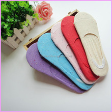 School girls best selling and fashion knitted invisible socks