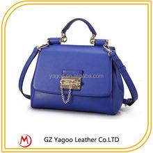 Deep Blue Adjustable Locker 100% Pure Leather Handbag