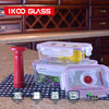 glass food container with lock pp lid with vacuum pump