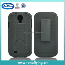 Shockproof shell holster combo for Samsung Galaxy s4 hand phone accessories