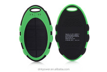2015 factory Wholesale cellphone waterproof portable solar phone battery charger