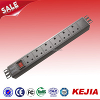 Single-Phase Basic South Africa Socket Type PDU, 250V Outlets (6 SABS 164-1), SABS, 10ft Cord, 1U Rack-Mount