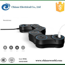 One swtich 4 electrial outlet and 2 USB port Pivot power
