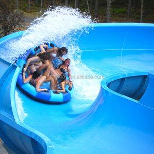 Большое удовольствие длинные водной горкой открытая спираль Крытый парк оборудования спираль горка/Aqua слайд
