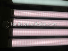 4ft 20w Pink color t8 LED tube light with clear striped cover