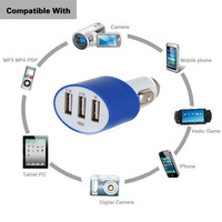 5v 5.2a car wireless charger with 3 port usb for cell phone