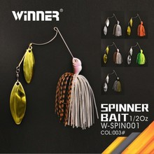 China Fishing Tackle Company Stainless Steel Wire Form Fishing Spinner Bait