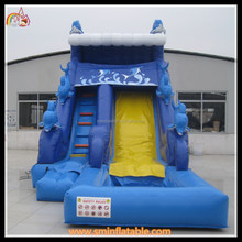 China factory amusement park water slide industrial dolphin inflatable water slide on sale
