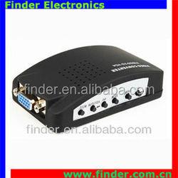 Composite RCA video (CVBS) converter, s-video rca to vga converter