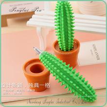 hot sale promotional cartoon creative cactus desk pen