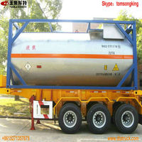 T50 /T8 / T6 portable Chlorine gas tank container ISO Tank Container ASME approved iso tank manufacturer Tom:86-15271357675